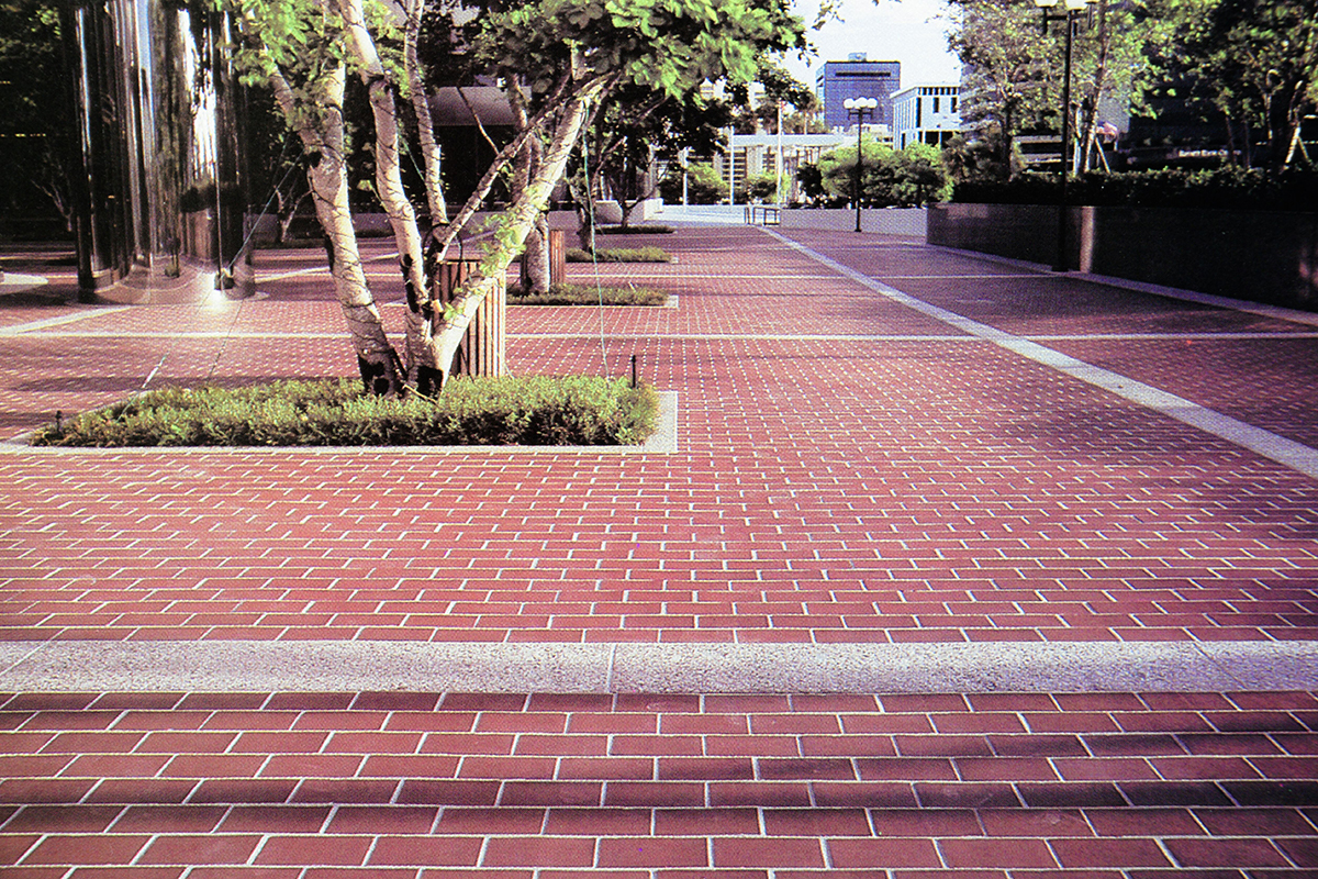 Thin Brick Pavers Running Bond Pattern By Marion Ceramics